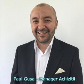 Paul Gusa - Manager Achizitii